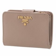 プラダ PRADA 2019年春夏新作 財布 レディース サフィアーノメタル 二つ折り財布 ベージュ系 1ML018 QWA 236