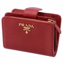 プラダ PRADA 2019年春夏新作 財布 レディース サフィアーノメタル 二つ折り財布 レッド 1ML018 QWA 68Z