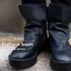 本革デザインブーツ ブーツ レディース 靴 日本製 送料無料・9月9日10時〜再再販。メール便不可