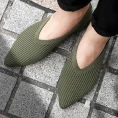 ニットパンプス 靴 パンプス 痛くない 歩きやすい・再再販。メール便不可