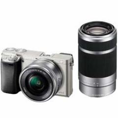 【送料無料】【即納】Sony α6000 ILCE-6000Y ダブルズームレンズキット [シルバー] デジタル一眼(ミラーレス一眼カメラ)