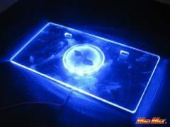 MADMAX LEDアクリルナンバーフレーム バイク用 12V カラー:ブルー