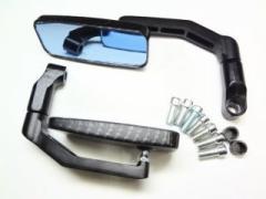 KEIO Parts 汎用スクエアー(カーボンブラック/ブルーレンズミラー)