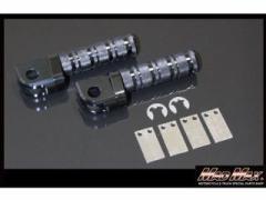 MADMAX カワサキ車用 アルマイト メインステップ カラー:ブラック