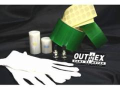 OUTEX クリアー チューブレスキット 前後セット フロント 21×1.85&リア MT17×2.75