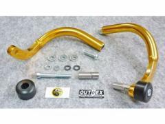 OUTEX 振動吸収レバーガード(クリアー) タイプ:ベントタイプ サイズ:内径17.3mm〜20.2mm カラー:ゴールド