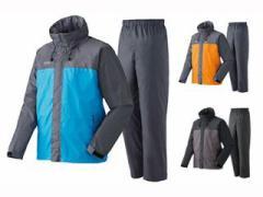 LOGOS 蒸れを追放 LVS透湿レインスーツ チェスター カラー:ブルー サイズ:LL