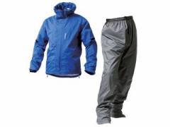 MAKKU AS-8000 デュアルワン 耐久防水レインスーツ カラー:マットブルー/マットグレー サイズ:EL
