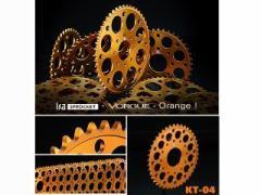 VORGUE ISA ドリブンスプロケット KT-04 520(オレンジ) サイズ:丁数:43