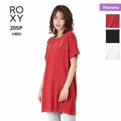 【送料無料】 ロキシー ROXY レディース 半袖 Tシャツ RST201077 ロング丈Tシャツ ティーシャツ トップス 女性用