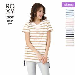 ロキシー ROXY  Tシャツ レディース 半袖 RST201088 ティーシャツ ロゴ クルーネック トップス ボーダー柄 女性用