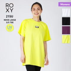 ROXY ロキシー 半袖 Tシャツ レディース RST212554 UVカット ロゴ ロング丈 ティーシャツ カジュアル 女性用 10%OFF