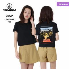 【ポイント3倍増量中】 VOLCOM ボルコム 半袖 Tシャツ レディース B3512005 はんそで ロゴ ティーシャツ 黒 UVカット ブラック 女性用
