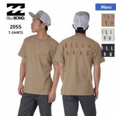 【送料無料】 BILLABONG ビラボン 半袖 Tシャツ メンズ BA011-217 ロゴ ホワイト トップス 黒 ティーシャツ クルーネック 白 ブラック 男