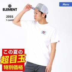 【送料無料】 ELEMENT エレメント 半袖 Tシャツ メンズ BA021-204 ロゴ ホワイト トップス ティーシャツ クルーネック 白 男性用
