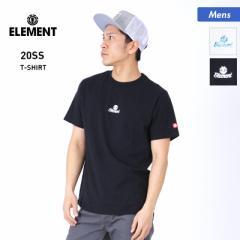 【送料無料】 ELEMENT エレメント 半袖 Tシャツ メンズ BA021-220 ロゴ ホワイト トップス 黒 ティーシャツ クルーネック 白 ブラック 男