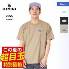 【送料無料】 ELEMENT エレメント 半袖 Tシャツ メンズ BA021-300 ロゴ ホワイト トップス 黒 ティーシャツ クルーネック 白 ブラック 男