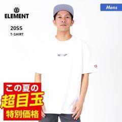 【送料無料】 ELEMENT エレメント 半袖 Tシャツ メンズ BA022-219 ロゴ ホワイト トップス ティーシャツ クルーネック 白 男性用