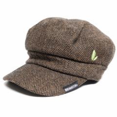 BIGWATCH正規品 大きいサイズ 帽子 メンズ ヘリンボーン キャスケット/ブラウン/ビッグサイズ/ビッグワッチ L XL 春夏秋冬 UVケア  CA-07