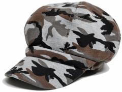 BIGWATCH正規品 大きいサイズ 帽子 メンズ カモ柄ビッグキャスケット ビッグワッチ/グレーカモ/迷彩柄/カモフラージュ/ミリタリー/サバゲ