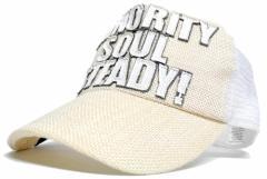 BIGWATCH正規品 大きいサイズ 帽子 メンズ ガレージヘンプキャップ ビッグワッチ/オールホワイト/白/メッシュキャップ/ヘンプ/ワッペン/L