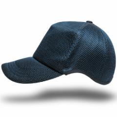 BIGWATCH正規品 大きいサイズ 帽子 メンズ ゴルフ 無地ラウンド メッシュキャップ ビッグワッチ スレートブルー 青//ビッグサイズ/ランニ