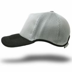 BIGWATCH正規品 大きいサイズ 帽子 メンズ ゴルフ 無地ラウンド メッシュキャップ ライトグレー/ブラック/ビッグサイズ/スポーツキャップ