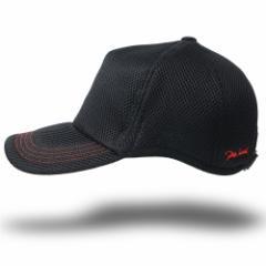BIGWATCH正規品 大きいサイズ 帽子 メンズ ゴルフ ラウンド メッシュキャップ 刺繍 ブラック レッドステッチ/ビッグサイズ/ビッグワッチ/