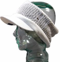BIGWATCH正規品 大きいサイズ 帽子 メンズ ヘンプダメージ ツバ付き ヘアバンド ビッグワッチ/ホワイト/ベージュ/ターバン/クラッシュ加