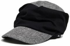 BIGWATCH正規品 大きいサイズ 帽子 メンズ シャーリングツイード ワークキャップ/ブラック/キャスケット/ビッグワッチ/つば付帽子/Lサ