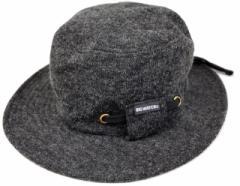 BIGWATCH正規品 大きいサイズ 帽子 メンズ フランネル ハット/チャコールグレー/ウール/ビッグサイズ/ビッグワッチ/フラットハット L XL