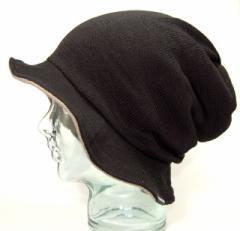 BIGWATCH正規品 大きいサイズ 帽子 メンズ HATハット リバーシブル ビッグワッチ ブラック/ベージュ 黒/ニットキャップ/アクターズ