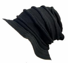 BIGWATCH正規品 大きいサイズ 帽子 メンズ ロール ハット ブラック/グレージュ 黒/ビッグワッチ/ハット/ルーズ/ニットワッチ/ニット帽子