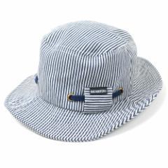 BIGWATCH正規品 大きいサイズ 帽子 メンズ ヒッコリー ハット/ボーダー/ストライプ/フラットハット/ビッグワッチ/ハット L XL 春夏秋冬 U