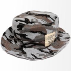 BIGWATCH正規品 大きいサイズ 帽子 メンズ カモ柄 スウェット サファリ ハット ビッグワッチ MIXグレーカモ/MIXグレー リバーシブル 迷彩