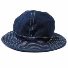 BIGWATCH正規品 大きいサイズ 帽子 メンズ デニム メトロハット ビッグワッチ ネイビー 紺 フラットハット キャンプ アウトドア フェス
