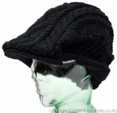 BIGWATCH正規品 大きいサイズ 帽子 メンズ ケーブル ビッグ ニット ハンチング ビッグワッチ ブラック/ハンチング/ルーズ/ケーブル/つば