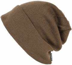 BIGWATCH正規品 大きいサイズ 帽子 メンズ ロング リバーシブル ビッグワッチ/ブラウン/ベージュ ニットキャップ/ルーズ/ニットワッチL