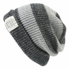 BIGWATCH正規品 大きいサイズ 帽子 メンズ /ロング ボーダー リバーシブル ビッグワッチ/ブラック/グレー/黒/ニットキャップ/ニット帽/帽