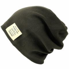 BIGWATCH正規品 大きいサイズ 帽子 メンズ サーマルリバーシブル ワッチキャップ/ビッグワッチ/チャコールグレー/ブラック ニットキャッ