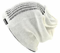 BIGWATCH正規品 大きいサイズ 帽子 メンズ スパイダークラッシュ ビッグワッチ/ ホワイト/ブラックニットキャップ/ダメージ/ルーズ  ビ