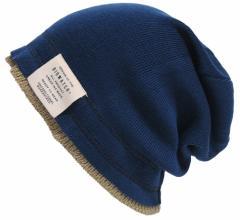 BIGWATCH正規品 大きいサイズ 帽子 メンズ レイヤード ビッグワッチ/ネイビー/ベージュ 紺/ニット帽子 メンズ 重ね着 フェイクレイヤー
