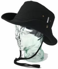 BIGWATCH正規品 大きいサイズ 帽子 メンズ アドベンチャー ハット/帽子 サファリテンガロン BK(黒)ボタン付き/ワイドハット/フラットハ