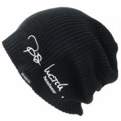 BIGWATCH正規品 大きいサイズ 帽子 メンズ 刺繍ラージスケール ニットキャプ ワッチキャップ ニット帽 ビッグワッチ ブラック 黒  L XL