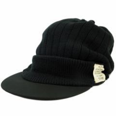 BIGWATCH正規品 大きいサイズ 帽子 メンズ リブニット シェード ニット ビッグワッチ/ブラック(黒)/ニットキャップ/ルーズ/つば付帽子/