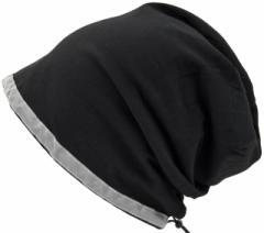 BIGWATCH正規品 大きいサイズ 帽子 メンズ リフレクター ビッグワッチ/ブラック/ニットキャップ/ニット帽/ナイトランニング/ナイトジョギ