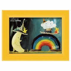 絵画 絵 ミニアート 子供部屋 武内祐人 たけうち よしひと 虹と雲と月 YT-00716