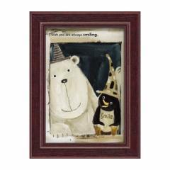 絵画 絵 ミニアート 子供部屋 武内祐人 たけうち よしひと シロクマとペンギン YT-00718