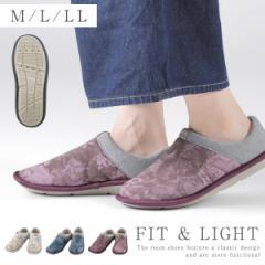 介護シューズ 介護靴 室内用 日本製 スットフィット 室内用 ルームシューズ M-LL