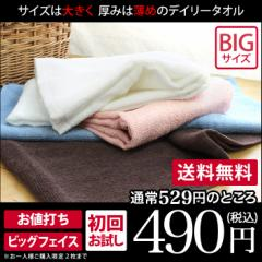 (送料無料)お試し 日本製 デイリータオル ビッグ フェイスタオル <初回限定価格>おひとり様2枚まで